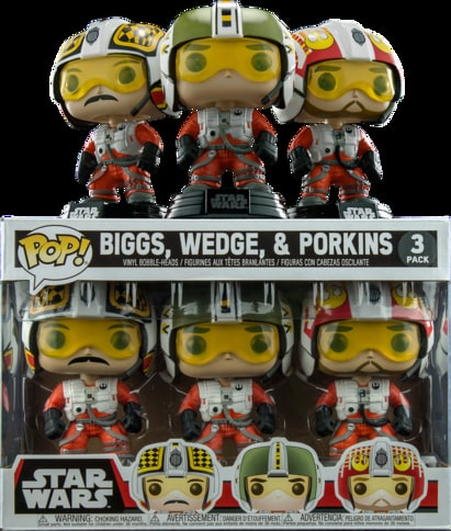 Funko Pop! Star Wars: Biggs, Wedge, & Porkins 3-Pack